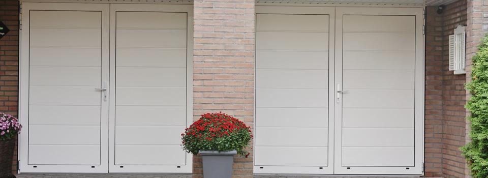 Cobusson openslaande geisoleerde garagedeuren